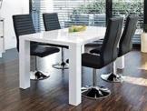 Esstisch weiss Hochglanz mit Stühlen